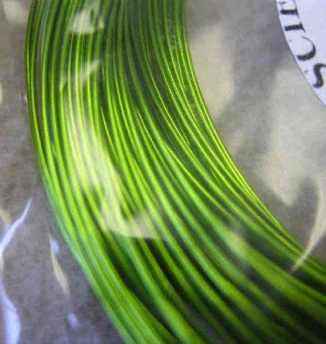 JW11571 0.5mm x 15m coloured copper wire - supa green chartreuse